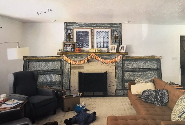 DIY Fireplace Makeover Part One: Updating Mantel Moldings