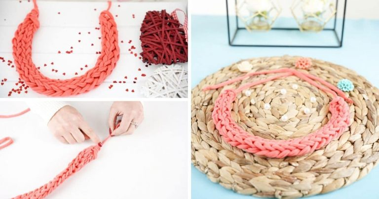 Gorgeous Finger Knitted Necklace With Video Tutorial
