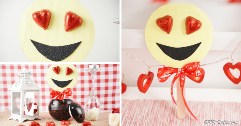 Sweet Valentine's Smiley Face Heart Eye Emoji Decoration
