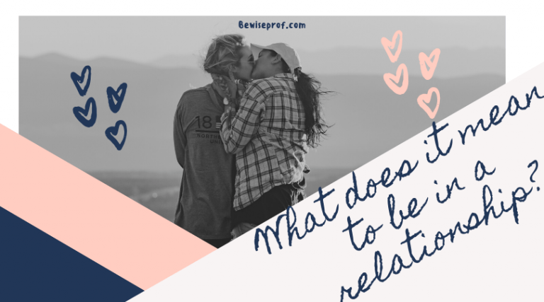 What does it mean to be in a relationship?