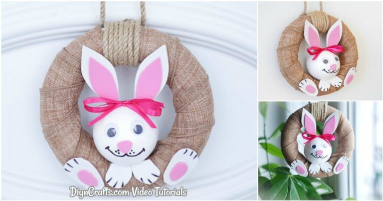 Adorable Easter Bunny Wreath With Video Tutorial