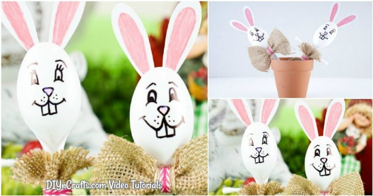 Cute Plastic Spoon Easter Bunny Craft