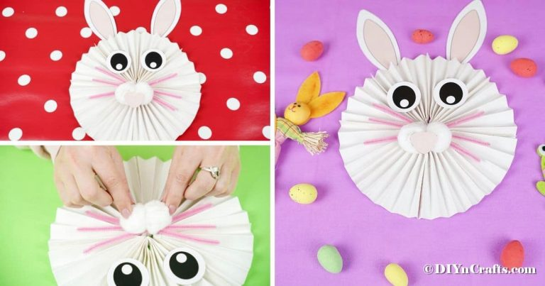 Adorable Paper Fan Bunny Wall Art Decoration (Free Printable)