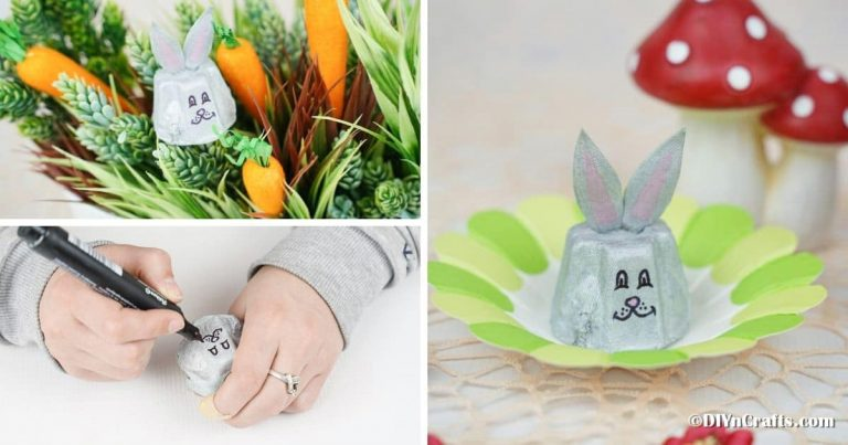 Easy Egg Carton Easter Bunny Kids Craft