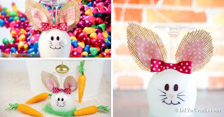 Adorable Wine Glass Bunny Decoration (Video Tutorial)