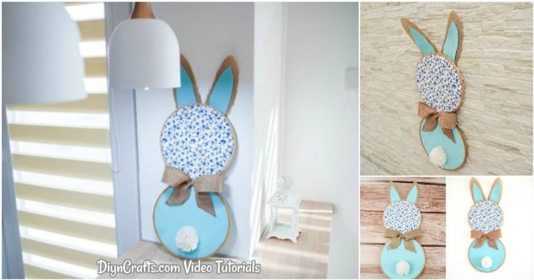 Cute DIY Easter Bunny Wall Art Decoration