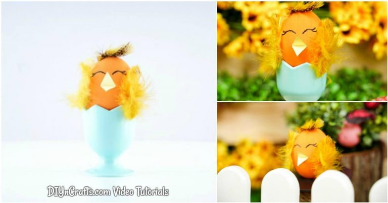 Easy Cute Easter Egg Chicken Craft (With Video)