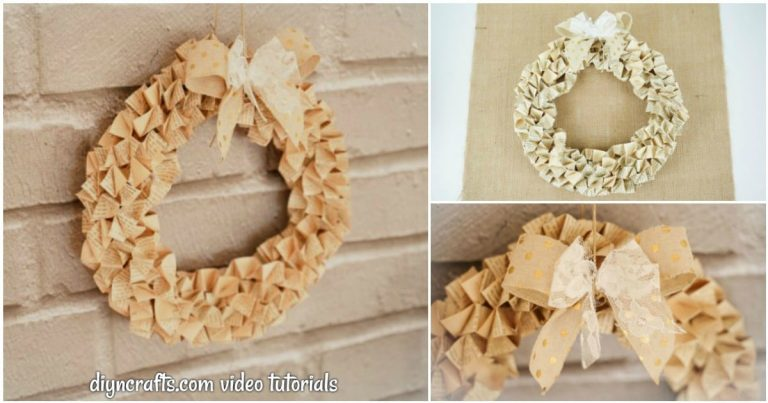 Easy Origami Old Book Page Wreath