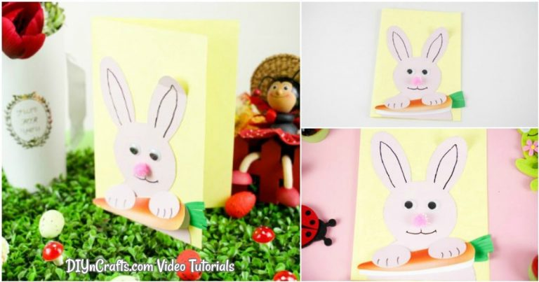Free Printable Easter Bunny Card (Video Tutorial)