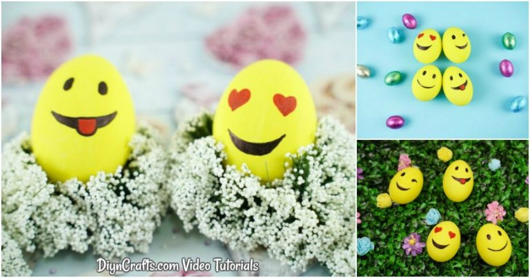 Easy DIY Smiley Face Emoji Easter Eggs
