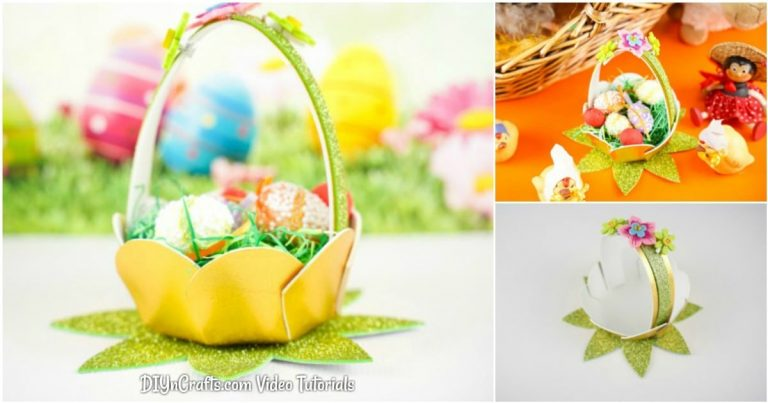 Decorative Mini DIY Easter Egg Basket (Video)
