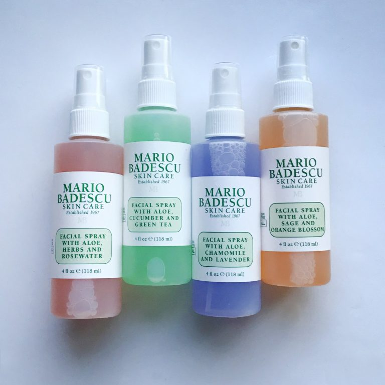 Differences Between Each Mario Badescu Facial Spray & How to Use Your Face Mists
