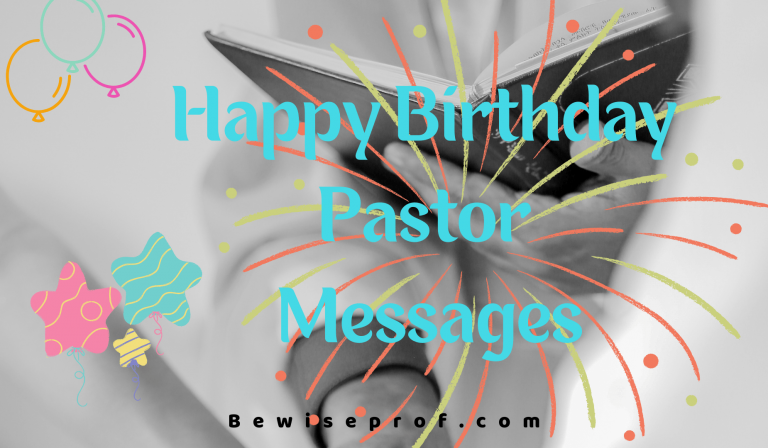 Happy Birthday Pastor Messages | Be Wise Professor