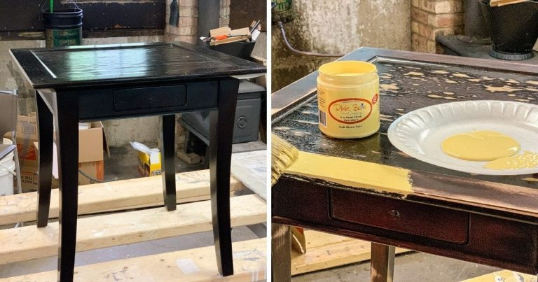 Farmhouse Style Chipped Finish Side Table Restoration Tutorial
