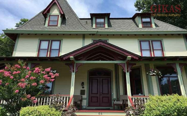 Choose 5 colors for exterior painting of the house