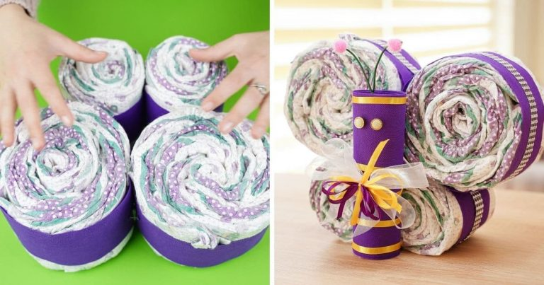 Adorable DIY Diaper Cake Butterfly Baby Gift Tutorial